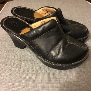 Born Mules Black leather Size 7
